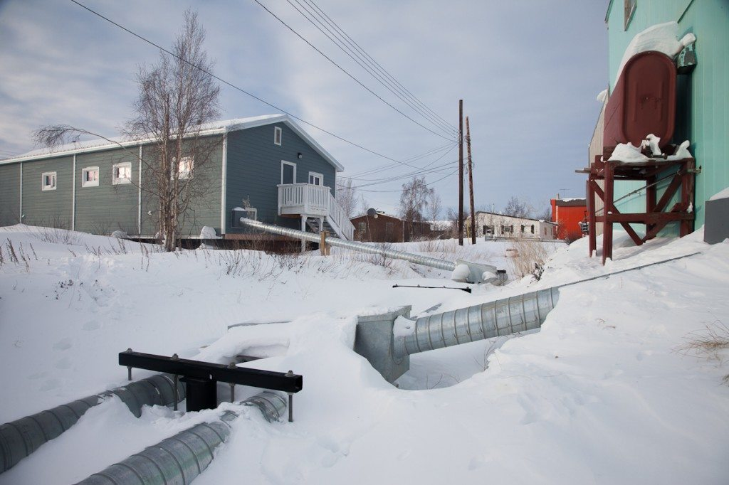 Inuvik's back alley